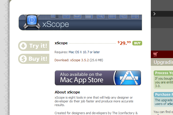 mac osx xscope website app coding IDE