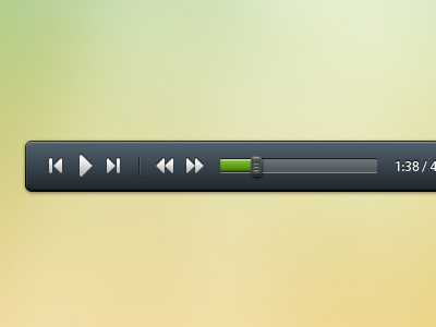 media player PSD for music and video