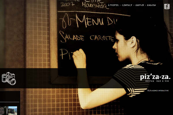 restaurant bar website layout big background photo