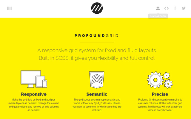 profound grid website yellow system open source