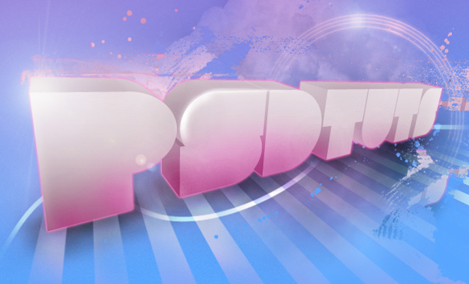 pink stylized 3d text effect logo
