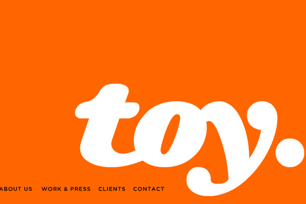 Toy New York website orange layout design