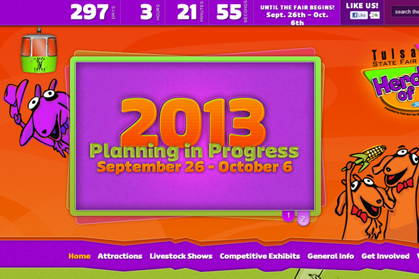 purple website layout tulsa state fair colors