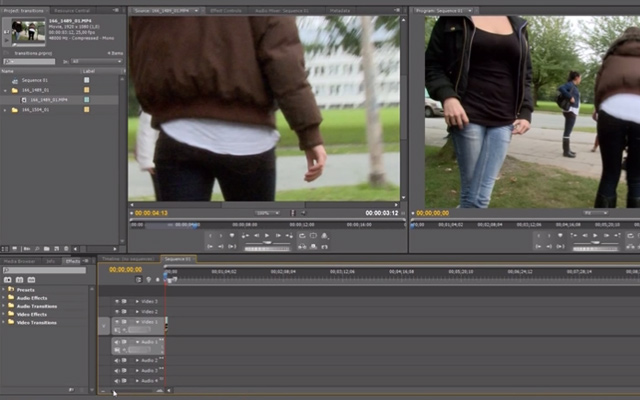 premiere pro cs5.5 transitions tutorial video howto