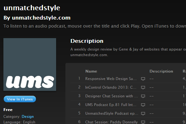 unmatched style web design podcast
