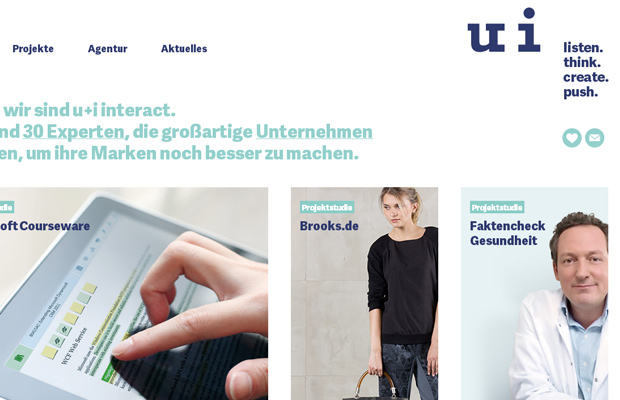 ui interactive website clean german homepage