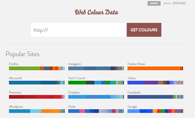 web color data generator webapp