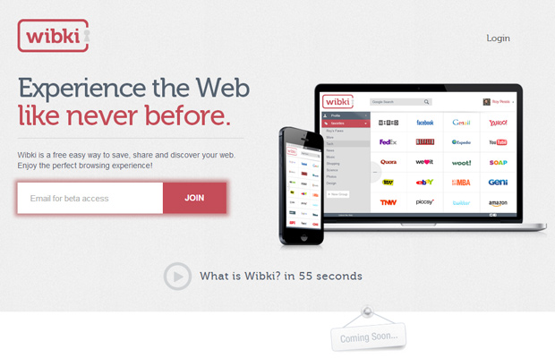 wibki unlock the web bookmarking startup website
