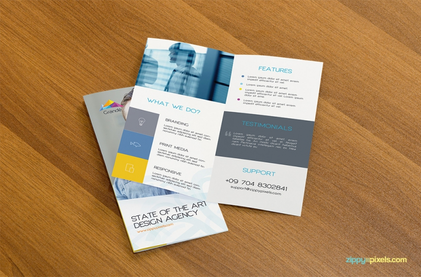 Collection Of 30 Free Flyer Mockup Designs