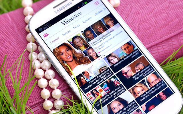 woman russian mobile android app ui