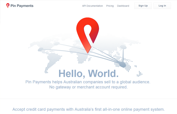 australia online payments pin website landing