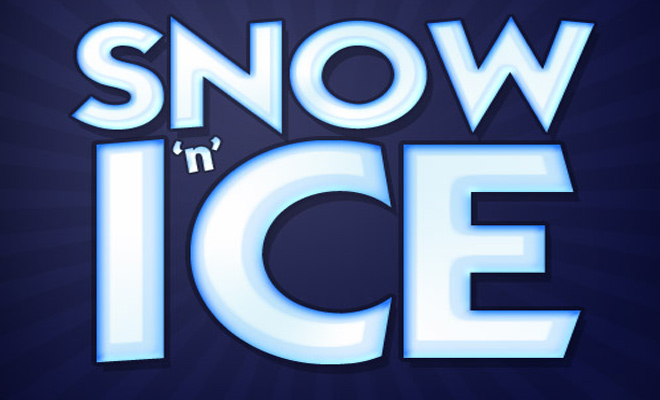 blue water ice text effect