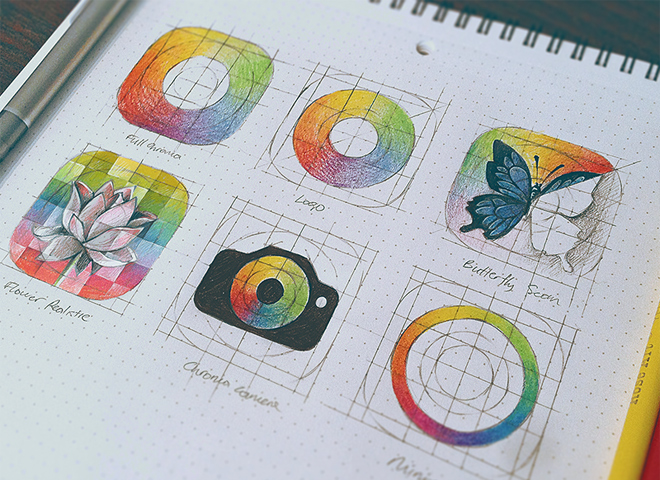 chroma icon sketch design iconset