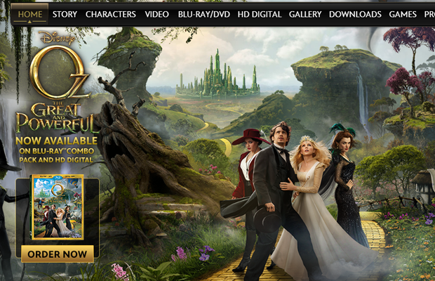 wizard of oz disney movie website