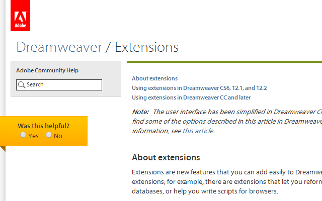 dreamweaver cs6 extensions guide howto setup