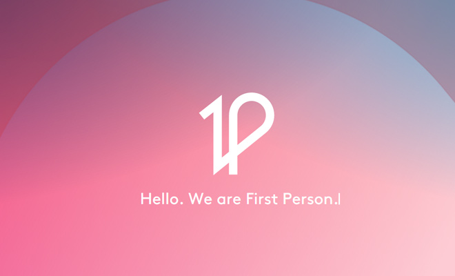 first person website fullscreen design
