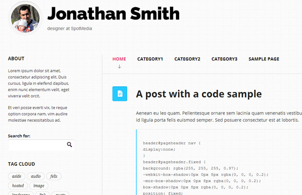 free open source wordpress theme focused