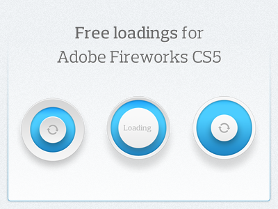 freebie PSD download loading circles