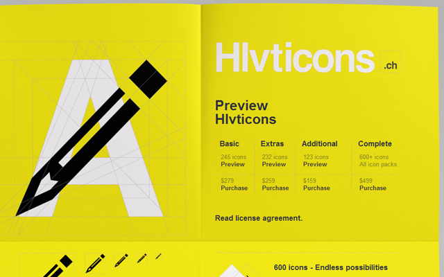 yellow website layout hlvticons