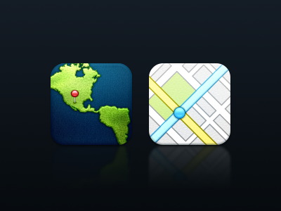 iPhone iOS Maps Icons