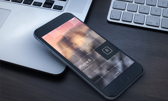 dark iphone6 3d phone render design
