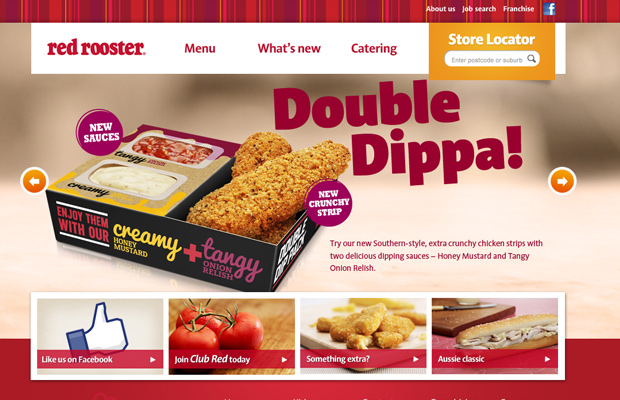 red rooster website design inspiring restaurant
