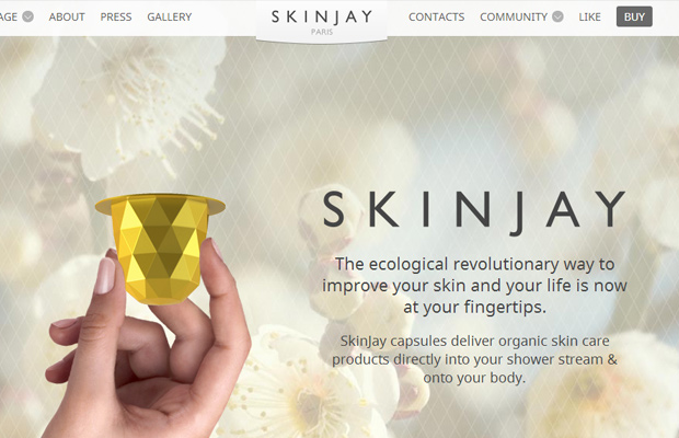 ecology website layout parallax design skinjay