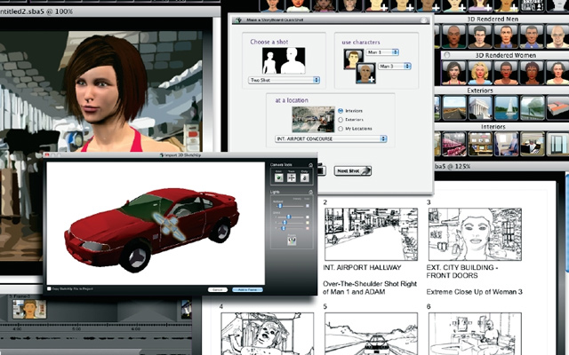 storyboard artist software program drawing