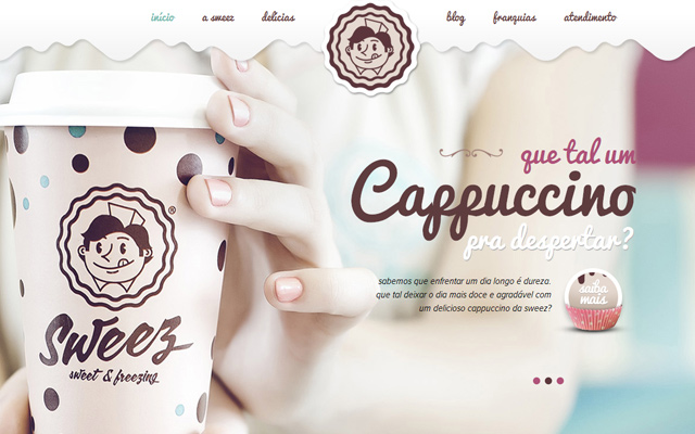 pink candy sweez website layout inspiring design