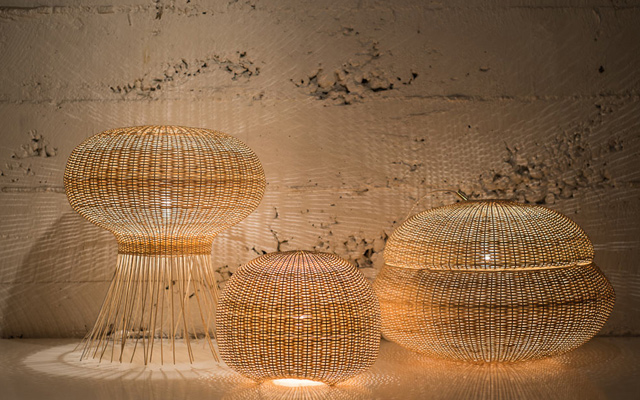 wicker light lamps products craftsmanship photos