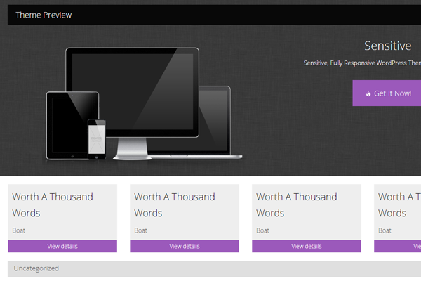 free wordpress theme download sensitive