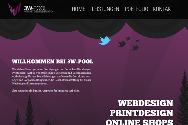 3W WWW Web Design studio agency germany purple