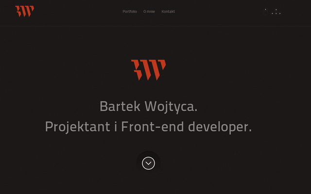 bartek wojtyca website homepage single layout design