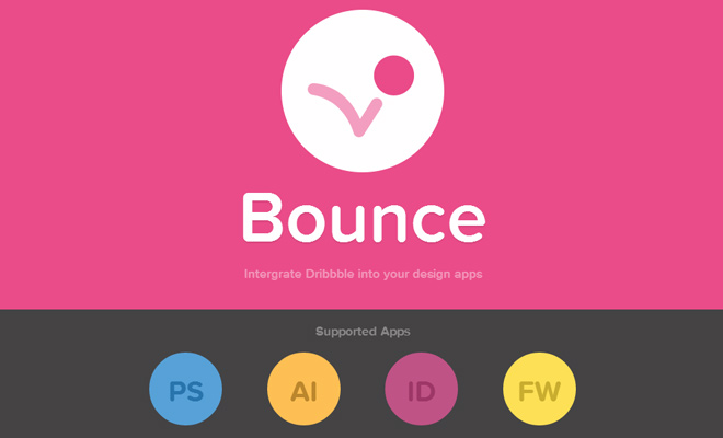 bounce dribbble extension plugin photoshop