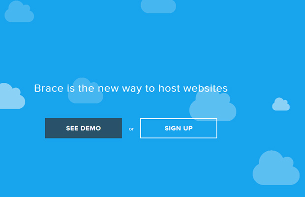 website blue homepage startup vector background clouds