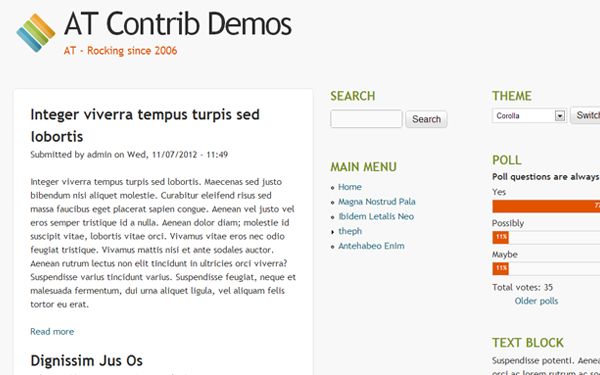 freebie drupal 7 theme download template preview