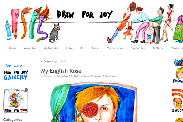 draw for joy website illustrations sketches