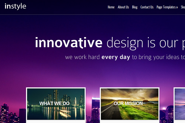 Elegant Themes instyle layout design