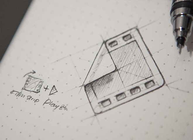 hd film strip icon sketch progress