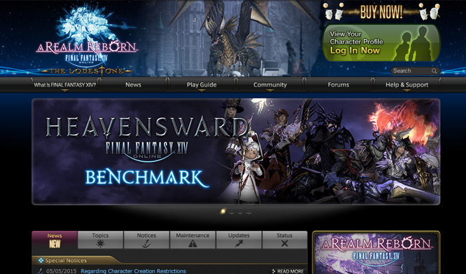 final fantasy realm reborn homepage