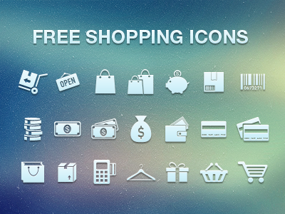 free download shopping icons