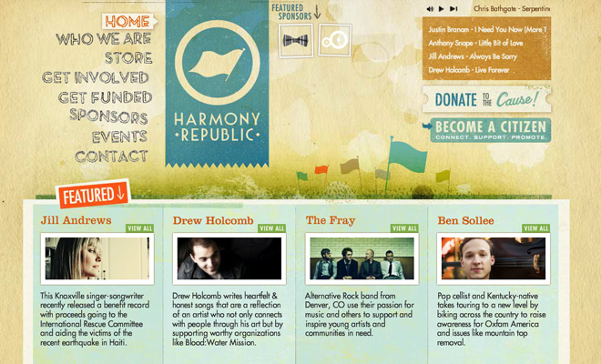 harmony republic website header texture