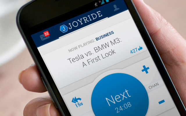 joyride android mobile music app interface