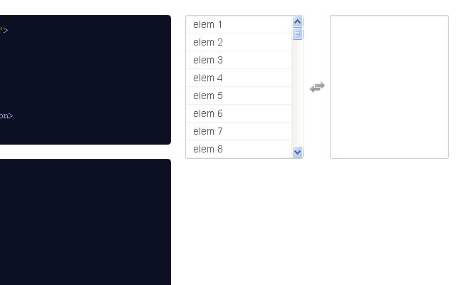 jquery multi select form plugin preview