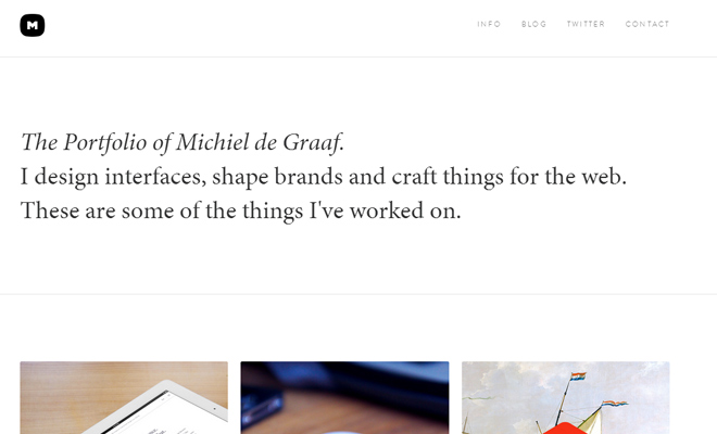 michiel de graaf portfolio website layout responsive