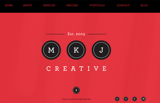 mkj creative agency parallax layout