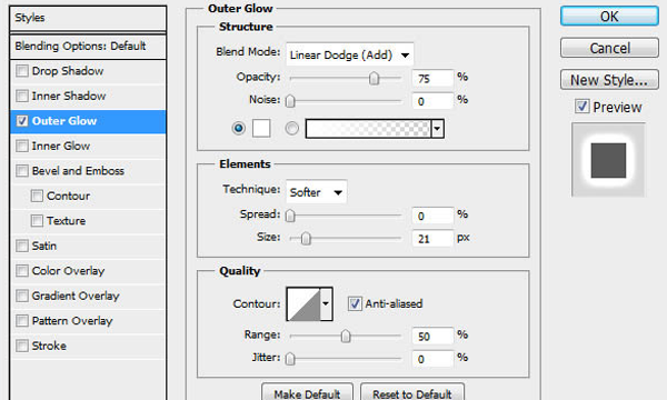 how to use outer glow in Photoshop CS6