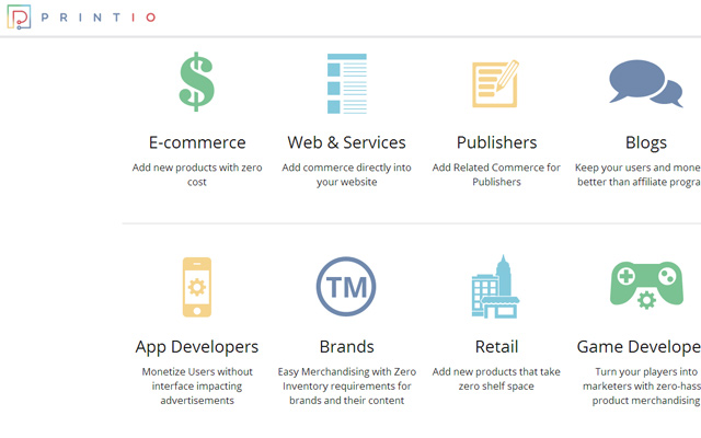 api sdk development printio ecommerce website