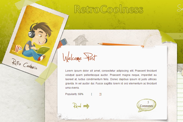 Wordpress Theme Retro Coolness Free Download