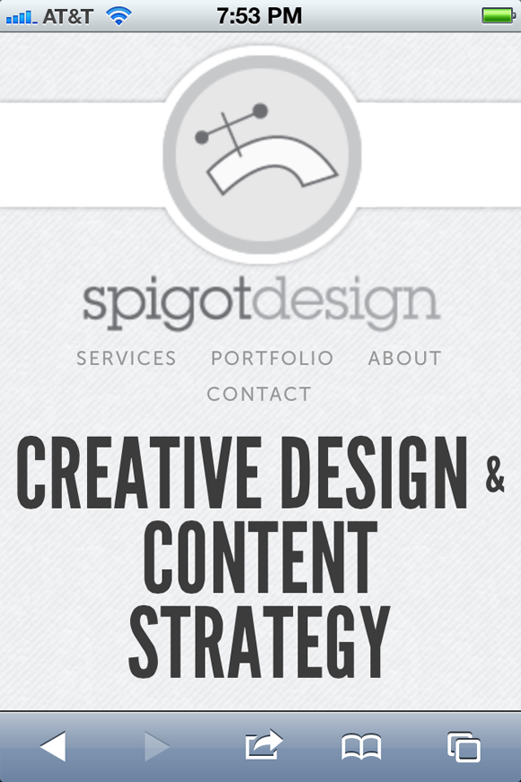 Responsive design layout Spigot Design